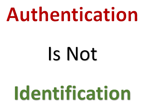 To Identify or to Authenticate what is the difference?